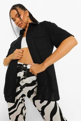 boohoo Utility Short Sleeve Shirt