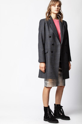 Zadig & Voltaire Mina Carreaux Coat