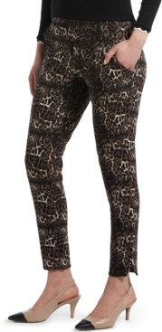 Hue Leopard-Print Ponte-Knit 7/8 Leggings