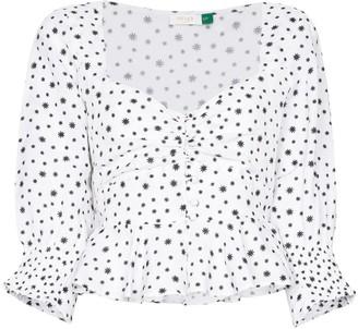Rixo Sameera starry button-down top