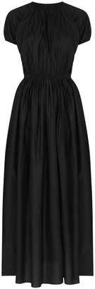 Matteau Ruched Cotton Midi Dress