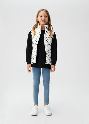 MANGO Quilted gilet white - 4-5 years - Kids