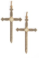 Luv Aj Women's Serpent Cross Earrings