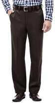 Haggar Cool 18 Pants - Classic Fit, Flat Front, Hidden Expandable Waistband