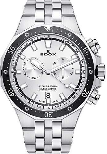 Edox Men's 'Delfin' Quartz Stainless Steel Dress Watch