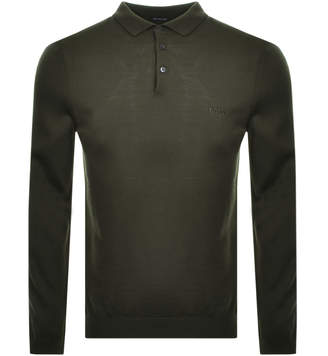 HUGO BOSS Boss Business Bono Polo Knit Jumper Green