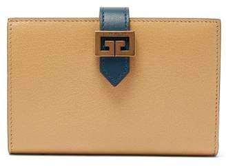 Givenchy Gv3 Logo-buckle Leather Bi-fold Wallet - Womens - Beige Multi