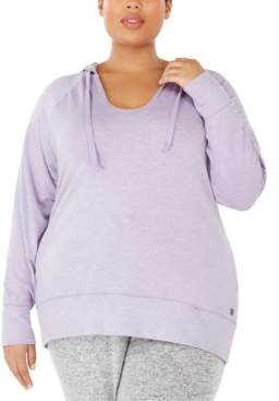 Ideology Plus Size V-Neck Hoodie, Created For Macy's
