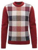 Hugo Boss Made in Germany multi-textured crew-neck sweater