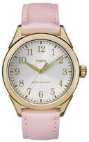 Timex Women's Work-to-Play Leather Strap Watch, 40mm