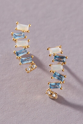 Anthropologie Arabelle Crawler Earrings By in Blue