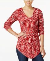 Ultra Flirt Juniors' Space-Dyed Tunic Sweater