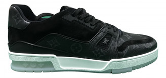 Louis Vuitton Trainer Black Leather Trainers