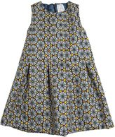 Stella Jean Printed Cotton Gabardine A-Line Dress