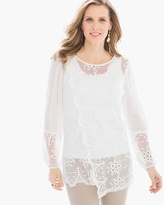 Chico's Statement Lace Tunic