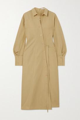REJINA PYO Maddie Convertible Cotton And Linen-blend Maxi Shirt Dress - Light green