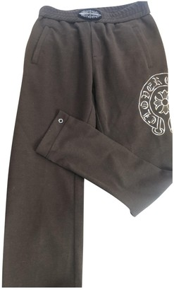 Chrome Hearts Brown Cotton Trousers