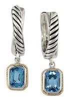 Effy Jewelry Effy 925 Sterling Silver & Gold Blue Topaz Earrings