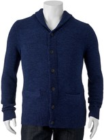 SONOMA Goods for Life Big & Tall SONOMA Goods for LifeTM Classic-Fit Wool-Blend Shawl-Collar Sweater