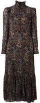 Saint Laurent paisley print ruffle dress