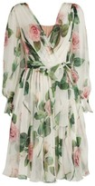 Dolce & Gabbana Floral Silk Wrap Dress