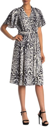 Rachel Roy Collection Animal Print Wrap Dress