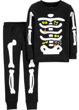Carter's Toddler Boy & Girl 2-Piece Halloween Skeleton Snug Fit Cotton PJs