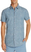 Sovereign Code Bent Chambray Leaf Print Regular Fit Button-Down Shirt