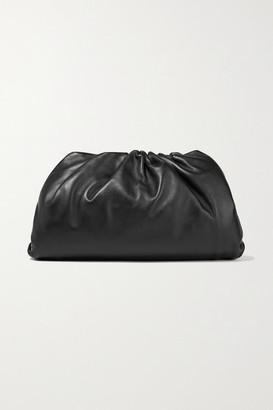 Bottega Veneta The Pouch Large Gathered Leather Clutch - Black