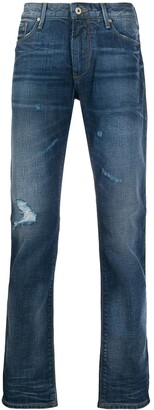 Emporio Armani Ripped Slim-Fit Jeans