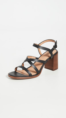 Madewell Sabine Skinny Strap Heeled Sandals