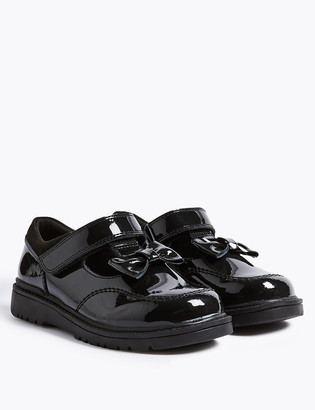 Marks and Spencer Kids Leather T-Bar School Shoes (8 Small - 1 Large)