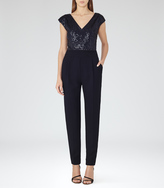 Reiss Maaya EMBELLISHED JUMPSUIT