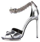 Roberto Cavalli Metallic Embellished Sandals
