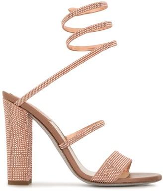 Rene Caovilla Cleo spiral block heel sandals