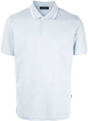 Durban D'urban contrast collar polo shirt