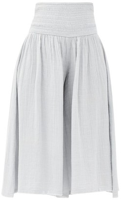 Anaak Anneka Shirred-waist Cotton-gauze Culottes - Light Blue