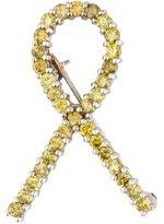 18K Diamond Ribbon Brooch