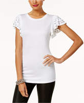 INC International Concepts Anna Sui Loves Petite Studded Top, Created for Macy's