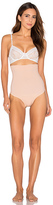 Yummie by Heather Thomson Lorelai High Waist Thong in Beige