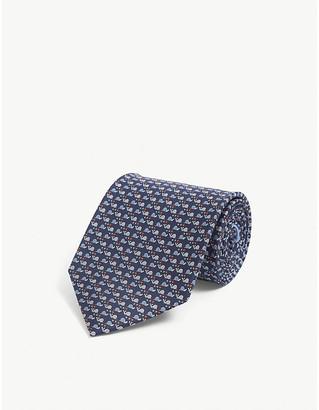 Salvatore Ferragamo Graphic-print silk tie