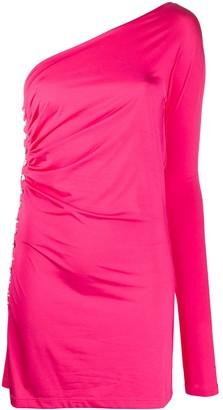 MARCIA One-Sleeve Fitted Mini Dress