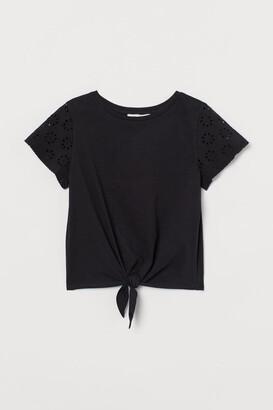 H&M Tie-detail top