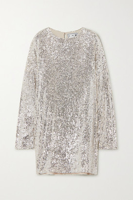 In The Mood For Love Alexandra Sequined Tulle Mini Dress - Silver