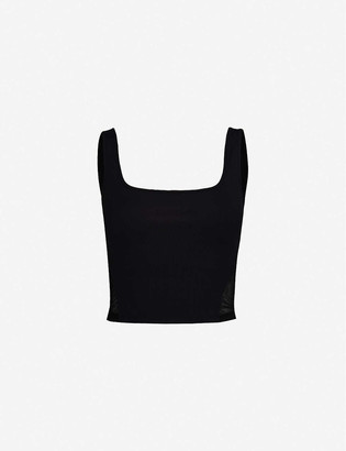 Michi Cadence mesh stretch-jersey crop top