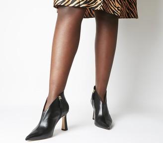 Office Millicent Flared Heel Shoeboots Black Leather