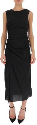 Theory Sleeveless Draped Midi Dress