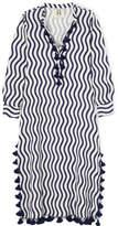 Figue Paolina Tasseled Striped Cotton-gauze Kaftan