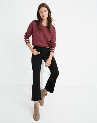 Madewell Petite Cali Demi-Boot Jeans in Black Frost: TENCEL Denim Edition