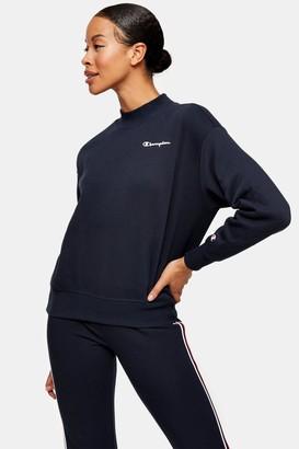 Champion Womens Navy Crew Sweatshirt By Navy Blue